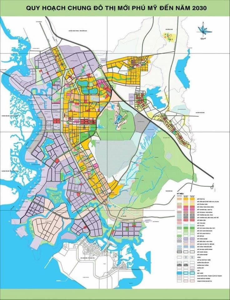 Quy Hoạch Chung Đô Thị Mới Phú Mỹ Đến Năm 2030